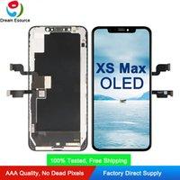 toque original da exposição do lcd para o iphone venda por atacado-100% testado tela original oled para iphone xs max assembléia completa com perfeito toque 3d frete grátis dhl