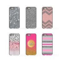 iphone 4s silber großhandel-Genießen Sie silberne rosa Glitter-Kunst-harte Telefon-Fall-Abdeckung für Apple iPhone X XR XS MAX 4 4S 5 5S 5C SE 6 6S 7 8 plus iPod-Note 4 5 6