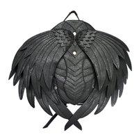 vampirleder groihandel-Punk Wing Leder Rucksack Gothic Damen Herren Black Ghost Monster Vampire Retro Rucksack Steampunk Fashion Travel Casual Bags