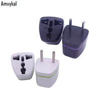 Wholesale universal european ac plug travel adapter resale online - Amvykal CE ROHS Universal UK US AU To EU RU KR Plug Adapter European Travel AC Power Electrical Plug Adaptor Socket Converter