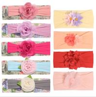 Wholesale mesh flowers for headbands resale online - Designer Headbands Chiffon Mesh Flower Baby Headband Cute Hair Accessories for Kids Girls Newborn Colors Princess Hairband