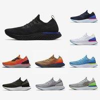 koyu mavi koşu ayakkabıları toptan satış-Nike Epic React Varış uçuş Epic S0UTH React erkek koşu ayakkabı kolej donanma Siyah ve Racer Mavi koyu gri örgü tasarımcı spor ayakkabı