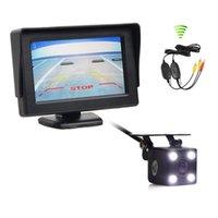 moniteur de stationnement vidéo sans fil achat en gros de-Moniteur de voiture vidéo DIYKIT 4.3inch + Kit de système de recul système de sécurité vue arrière de la caméra de voiture de LED HD Kit de système de recul