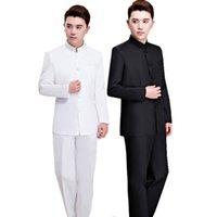 traditioneller kleidermann großhandel-Traditionelle Chinesische Art Kleidung Vintage Hochzeitskleid Männer Hanfu Anzug Alte Kostüm Plus Size Royals Tang Set 3XL 4XL