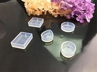 form asmaları toptan satış-Su Damlası Şekli Yuvarlak Silikon Kalıp Reçine Formları Için Kristal Elmas Bilezik Kolye Doming Kalıp Kek Dekorasyon Araçları