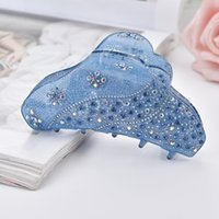 корейская японская мода оптовых-Japanese Korean Women Acrylic Hair Clips Crystal Rhinestone Cute Full Diamond Hair Fashion Girl Accessories
