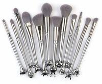 chinesische kits großhandel-DROP Maange 12st Chinese Zodiac Make-up Pinsel Set Foundation Powder Blending Augen Niedlich Make up-Pinsel Kosmetik-Werkzeug Schatten mit dem Kasten