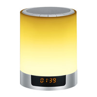 led-farbwechsel uhr großhandel-Tragbare Bluetooth-Lautsprecher Farbwechsel Nacht Wecker Subwoofer Wireless Stereo LED-Licht Freisprecheinrichtung Mode Musik-Player