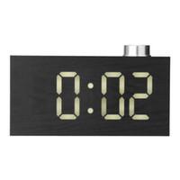 Wholesale imitation electronics for sale - Group buy New Imitation Wood Grain LED Knob Digital Clock Home Fashion Electronic Snooze Creative Thermometer Clock