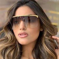 gradiente de óculos vintage venda por atacado-Big Frame Gradiente Shades Oversized Óculos De Sol para As Mulheres Quadrado Marca Designer de Moda Vintage Óculos de Sol UV400 Óculos Feminino