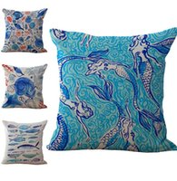 Wholesale starfish bedding for sale - Group buy Starfish Mermaid Pillow Case Cushion Cover Linen Cotton Throw Pillowcases sofa Bed Car Home Decor Pillow Covers Colors Custom Free
