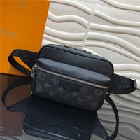 Wholesale fanny pouch resale online - Limited edition Fanny pack soft cowhide with coated canvas cowhide trim printed zipper compartment pouch
