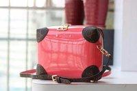 Wholesale box leather handles for sale - Group buy 2019 M50477 Fashion Women New Patent Leather Pink Box Bag Shoulder Bags Hobo Handbags Top Handles Boston Cross Body Messenger Shoulder Bags