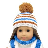 18 amerikan kız bebek aksesuarları toptan satış-1 Parça amerikan kız Bebek kazak şapka-18 inç Bebek Giyim Aksesuarları Seti 16 ~ 18 inç bebek için Uyuyor