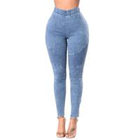 yeni hortum toptan satış-2019 En Yeni Bayan Bravo Harika Yüksek Bel Stretch Hortum Jeans Tozluklar Sıska İnce Spor Pantolon Pantolon
