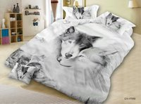 Wholesale wolf bedding sets resale online - High Quality Cheap Price Bed Set d Animal Quilt Cover Hot Sale Bedding Set Article Wolf Four Paper