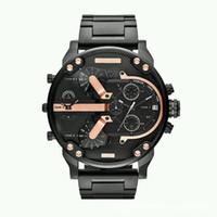 relógio analógico grande data venda por atacado-Venda quente de Luxo Mens Watch Aço Inoxidável Strap Big Dial Designer Relógios de Quartzo Clássico Militar Relógios de Pulso Automático Data Relógios Relógio