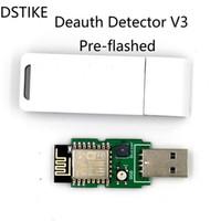 led rgb чехол оптовых-DSTIKE WiFi Детектор Deauth V3 (с предварительной вспышкой) с чехлом ESP8266 ESP12E USB RGB Светодиодный зуммер NodeMCU CP2102 Arduino стартовый комплект
