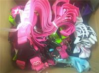 teléfono celular de apple rosa al por mayor-Hot Love pink Lanyard para MP3 MP4 lanyards llavero del teléfono celular 15 colores DHL FEDEX ENVÍO GRATIS