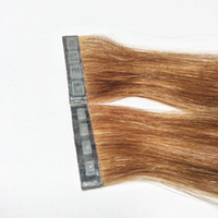 Wholesale types virgin hair resale online - New Product Tape In Hair Extension Button Skin Weft Hair Clip In Hair Extension Press type Quick To Wear High Quality Double Drawn