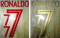buchstaben zahlen stempel großhandel-2018 2019 Portugal stempelt Heimatfußball-Namensset # 7 RONALDO-Fußballspieler entfernt Nummerierung Aufkleber Fußball heiß beeindruckt Buchstaben Schrift