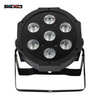 SHEHDS LED 7x18W RGBWA+UV Par Light with DMX512 IN OUT and Power IN & OUT 6in1 stage light effect for Wash Effect DJ disco