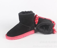 Wholesale barrel shoes for sale - Group buy New snowfield boots low barrel bow knot shoes for boys and girls baby toddlers cotton shoes