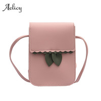 Wholesale universal cell phone wallet purse online – custom Aelicy Universal Leather Single Shoulder Pocket Wallet Pouch Case Bag Messenger Bag Female Purse Card Phone Pocket