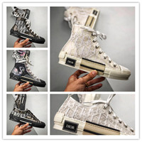 Wholesale basketball mujer resale online - Loafers Zapatos De Mujer Wedges Platform B23 High Top Sneakers In Oblique Breathable Ladies Sneakers Dior Shoes