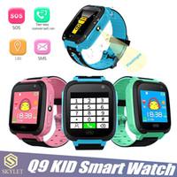 ingrosso braccialetto verde della macchina fotografica-Kid Smart Watch Q9 Smart Baby Baby Watch con fotocamera a distanza LBS SOS Safty Watch SIM Card Slot con scatola al minuto