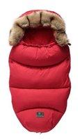 cochecito para el invierno al por mayor-Cochecito de invierno bolsa de dormir caliente a prueba de viento de dormir sobre la silla de ruedas artículos para bebé saco de dormir del bebé del bebé bolsa
