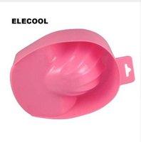 nagel maniküre schüssel großhandel-ELECOOL 1 stück Nail Art Hand Soaker Wash Bowl Polnischen Entferner Maniküre DIY Salon Nagel Spa Bad Maniküre Werkzeuge