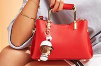 Wholesale metallic crochet dress resale online - 2019 Ruil Women Color splicing Little bee Bags Fashion Zipper Designer Handbag Casual Shoulder Messenger Bag New Sac Femme handbags bags B01