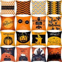 Wholesale party supplies resale online - Pumpkin Cushion Cover Halloween Party Decoration Happy Halloween Pillowcase Party Supplies Decor for Home Halloween Accessories
