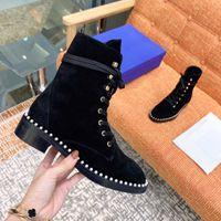 ingrosso i migliori stivali di caviglia di vendita-Stivaletti invernali del marchio di stilisti di moda 2020 più venduti stivaletti da donna comodi stivali Martin in pelle scarpe da donna di alta qualità