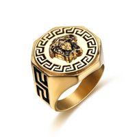 качающееся кольцо оптовых-Старый миф хип-хоп дизайнер кольца для женщин мужчин новые кольца из нержавеющей стали уличная одежда прилив вечеринка рок панк кольца мужчины