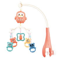 Wholesale plastic crib mobiles resale online - Baby Rattles Crib Mobiles Toy Holder Rotating Crib Mobile Bed Musical Box Months Newborn Infant Baby Boy Girl