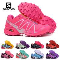 Wholesale art crosses for sale - 2019 Salomon Cross CS III women running Shoes zapatos hombre Speed Sport Sneakers Woman Black outdoor athletic Speedcross Solomon Shoe