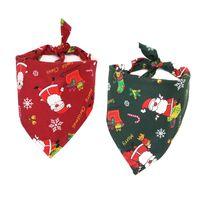 ingrosso bandane sciarpa bibs-5 Style Pet Dog Bandana di Natale Cotton Dog Scarf Bavaglini Collare Grooming Accessories Christmas Pets Triangular Scarf Unisex B