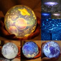 proyector de luz cosmos al por mayor-El cielo estrellado proyector de la estrella celeste Cosmos Lámpara de la noche Luces de la noche de proyección