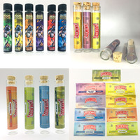 Wholesale flower electronics resale online - Moonrock Pre Roll Joint Packaging Glass Tube mm DANKWOODS Dry Herb Flower Empty Bottle Stickers Customs Packwoods Electronic Cigarette