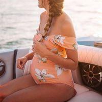 Wholesale swimsuit pregnant woman for sale - Group buy Swimwear Maternity Swimwear Plus Size Women Flower Print Swimsuit Beachwear Pregnant Women Swimsuits