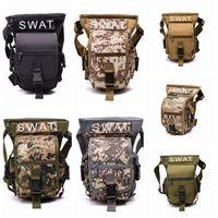 Wholesale camping tool belt resale online - Tactical waist bags drop leg waist belt bag outdoor hiking traveling fishing tools bag men belt pack ZZA471