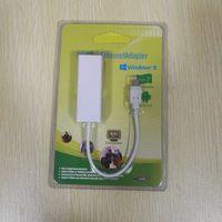lan rj45 tablet großhandel-50 stücke Micro USB 2.0 / USB 2.0 zu RJ45 LAN Netzwerk Ethernet Adapter Karte 100 Mbps für Android Tablet PC Laptop