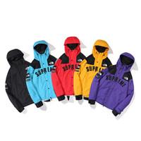 satılık erkek şapkaları toptan satış-Sıcak Satış Unisex Palto Spor Sıcak Giyim Açık Casual Ceketler Erkekler Kızlar Hip-Hop Kapüşonlular ile Şapka 5 Renk