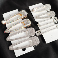 Wholesale vintage barrettes plastic resale online - 2019 Hot Women Bridal Vintage Faux Pearl Wrapped Hairpins Girl Glitter Accessory Gold Silver Metal Alloy Hair Clip Water Drop Barrettes pc