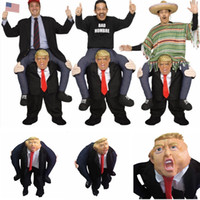 Wholesale up movie costumes for sale - Donald Trump Pants Party Dress Up Ride On Me Mascot Cosplay Costumes Carry Back Novelty Ride Pants Party Supplies LJJA1496