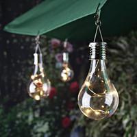iluminação de paisagem ao ar livre solar venda por atacado-Alta Qualidade Camping Hanging LED Luz Waterproof Solar Waterproof controle de luz Bulb Garden Outdoor decorativa da paisagem