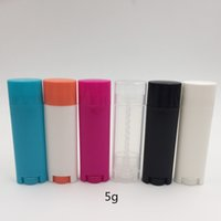 Wholesale deodorant packaging for sale - Group buy 24pcs ml plastic Multicolor oval shape lipstick tube container cc deodorant tube lip balm container for makeup packaging