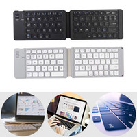 Wholesale tablet double for sale – best Bluetooth Keyboard Double Folding Aluminum Alloy for Tablet Mobile Phone PC SP99